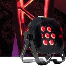 American DJ Flat Par TRI7XS DMX 7X 3W TRI LED inc. Snoot LED Stage Light