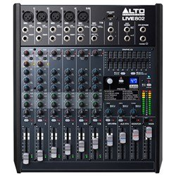 Alto Live 802 Professional 8-Channel 2-Bus Mixer w/ USB & Effects