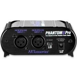 ART Pro Audio Phantom II Pro Dual Channel Phantom Power Supply