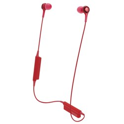 Audio Technica ATH CK200BT Wireless In-Ear Headphones (Red)
