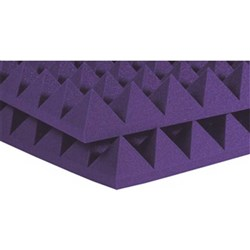 "Auralex 2"" Studiofoam Pyramid 12x 2ft x 2ft Panels (Purple)"