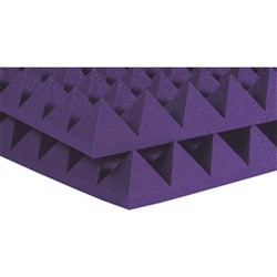 "Auralex 2"" Studiofoam Pyramid 12x 2ft x 4ft Panels (Purple)"