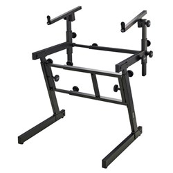 On-Stage KS7365EJ Heavy Duty Folding Z-Style Multi-Use Stand with 2nd Tier