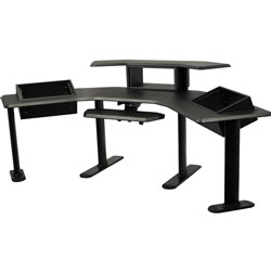 "Ultimate Support Nucleus 5 Studio Desk w/ 24"" Ext, 2-Tier 6U/6U/4U Racks & Keys Tray"
